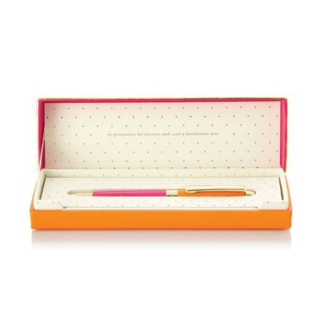 Kate Spade New York Orange and Pink Boxed Ballpoint Pen