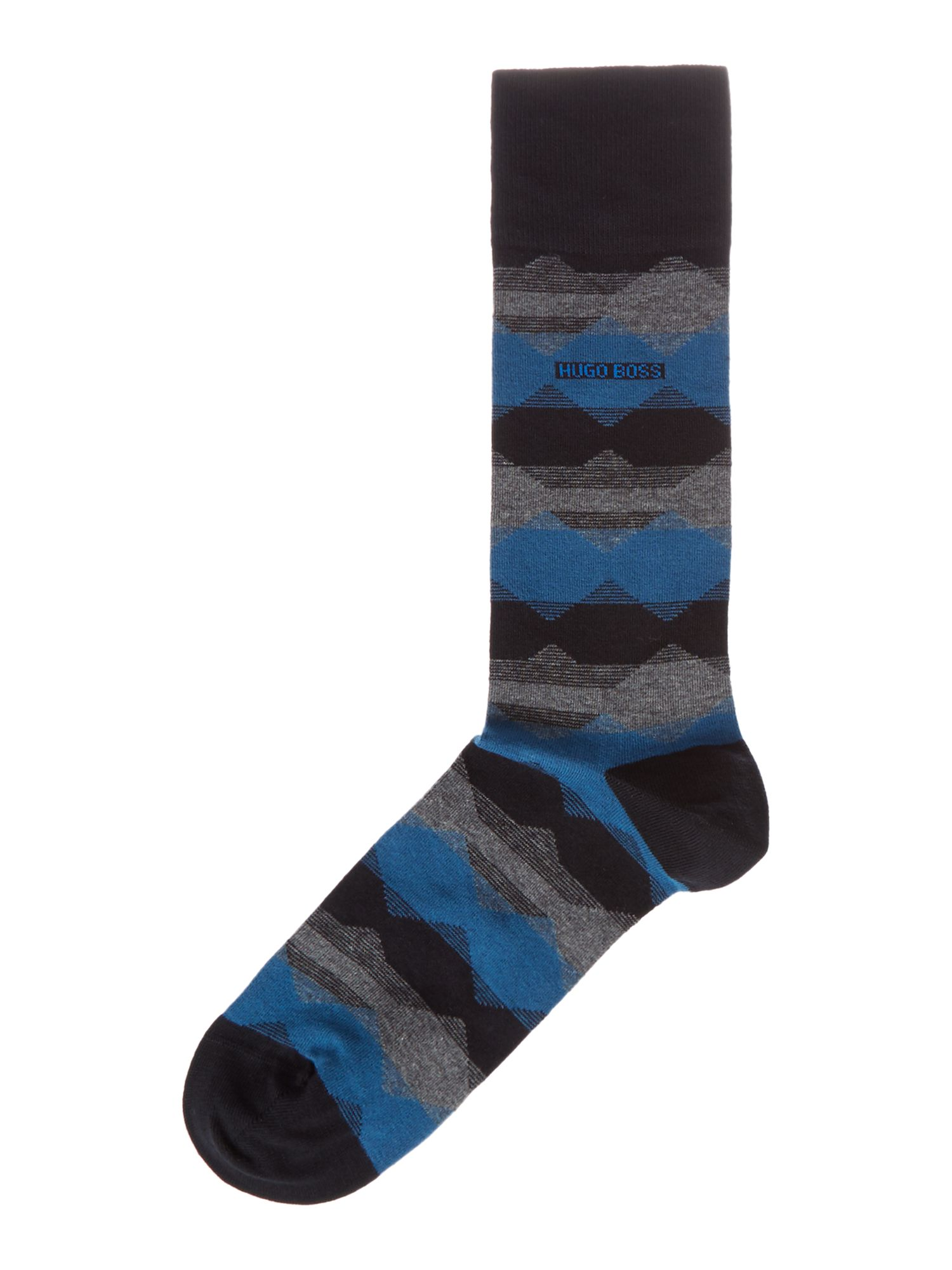 Mens Hugo Boss Hex Striped Socks Navy