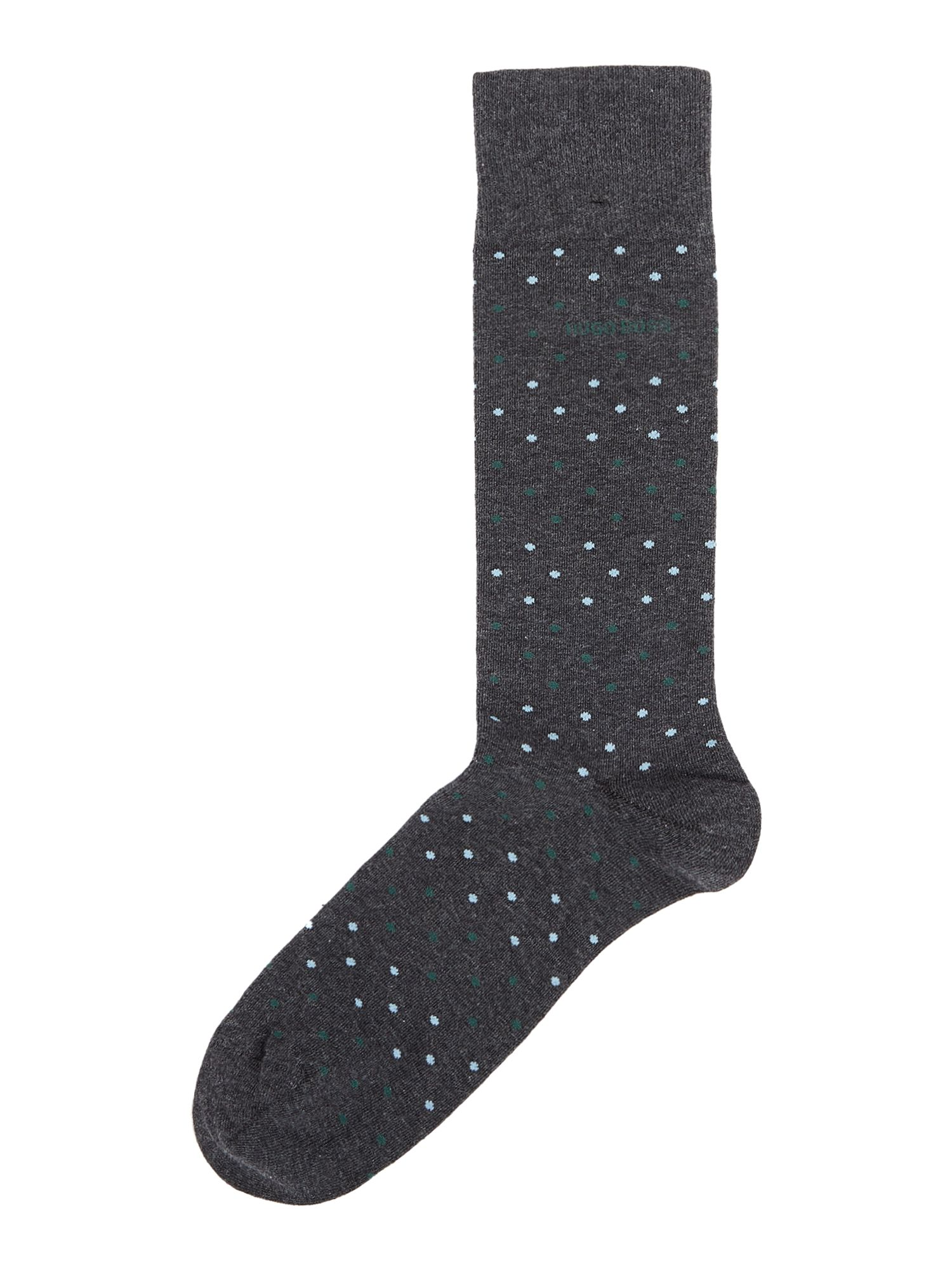 Mens Hugo Boss Multi Dot Cotton Socks Charcoal