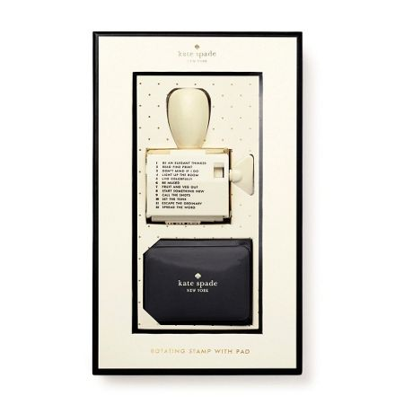 Kate Spade New York Rotating Stamp with Pad