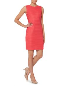 Episode Sleeveless bodycon dress with organza stripe