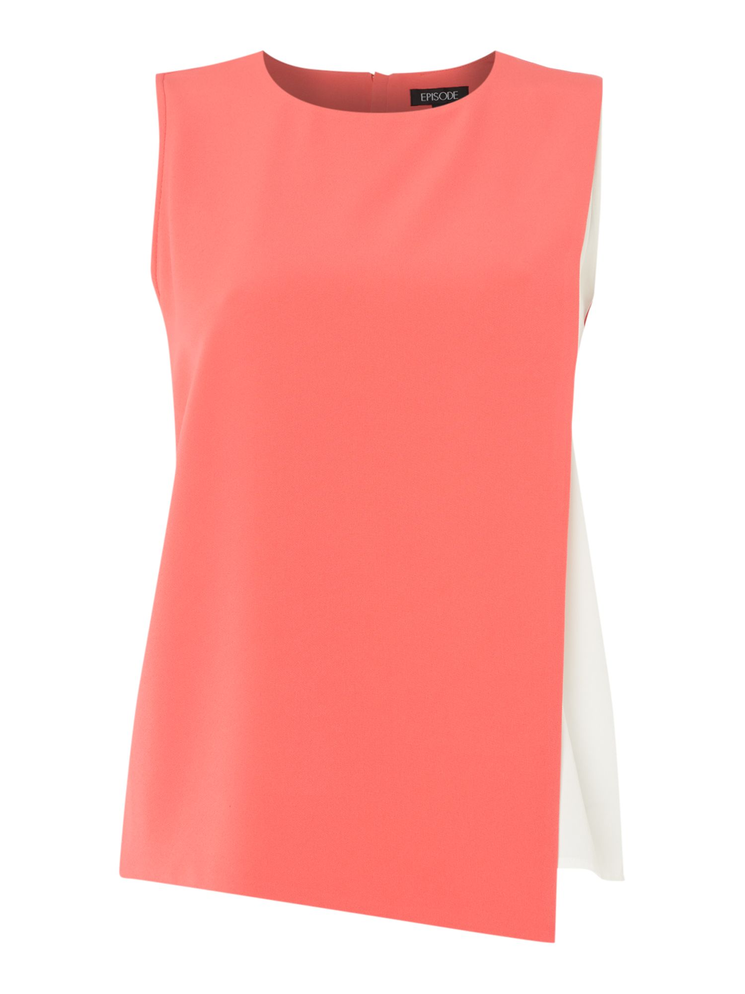 Episode Episode Sleeveless top with panel underlay, Watermelon