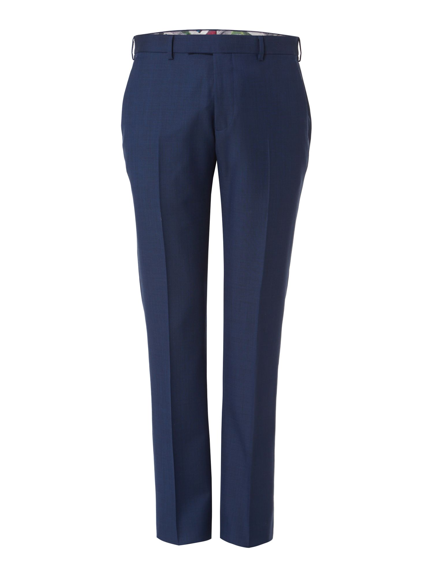 Mens Ted Baker Canboo Sharkskin Suit Trousers Blue