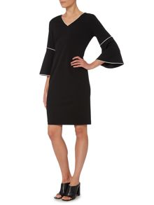 Episode Shift dress with bell sleeve