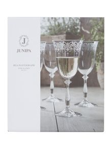 Junipa Bea pantograph wine glasses set of 4