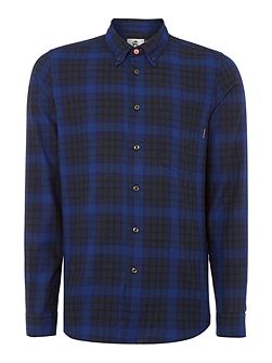 Tailored fit flannel checked shirt
