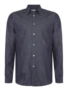 PS By Paul Smith Tailored fit clean denim shirt