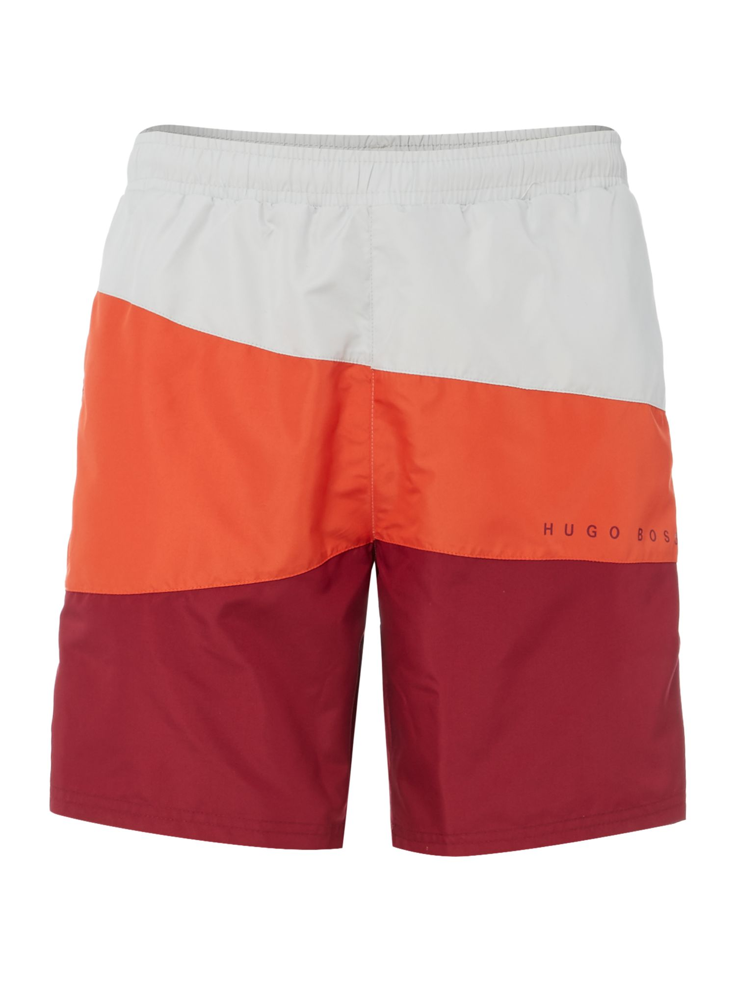 Men's Hugo Boss Butterflyfish Curve Striped Shorts, Orange