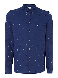 Tailored fit dice men printed shirt