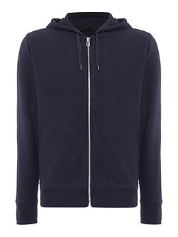 Zip-up hoodied sweat top