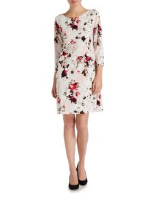 Episode Long sleeve printed jersey dress with hardwear