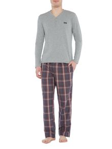 Hugo Boss Longsleeve Henley and Check Bottoms