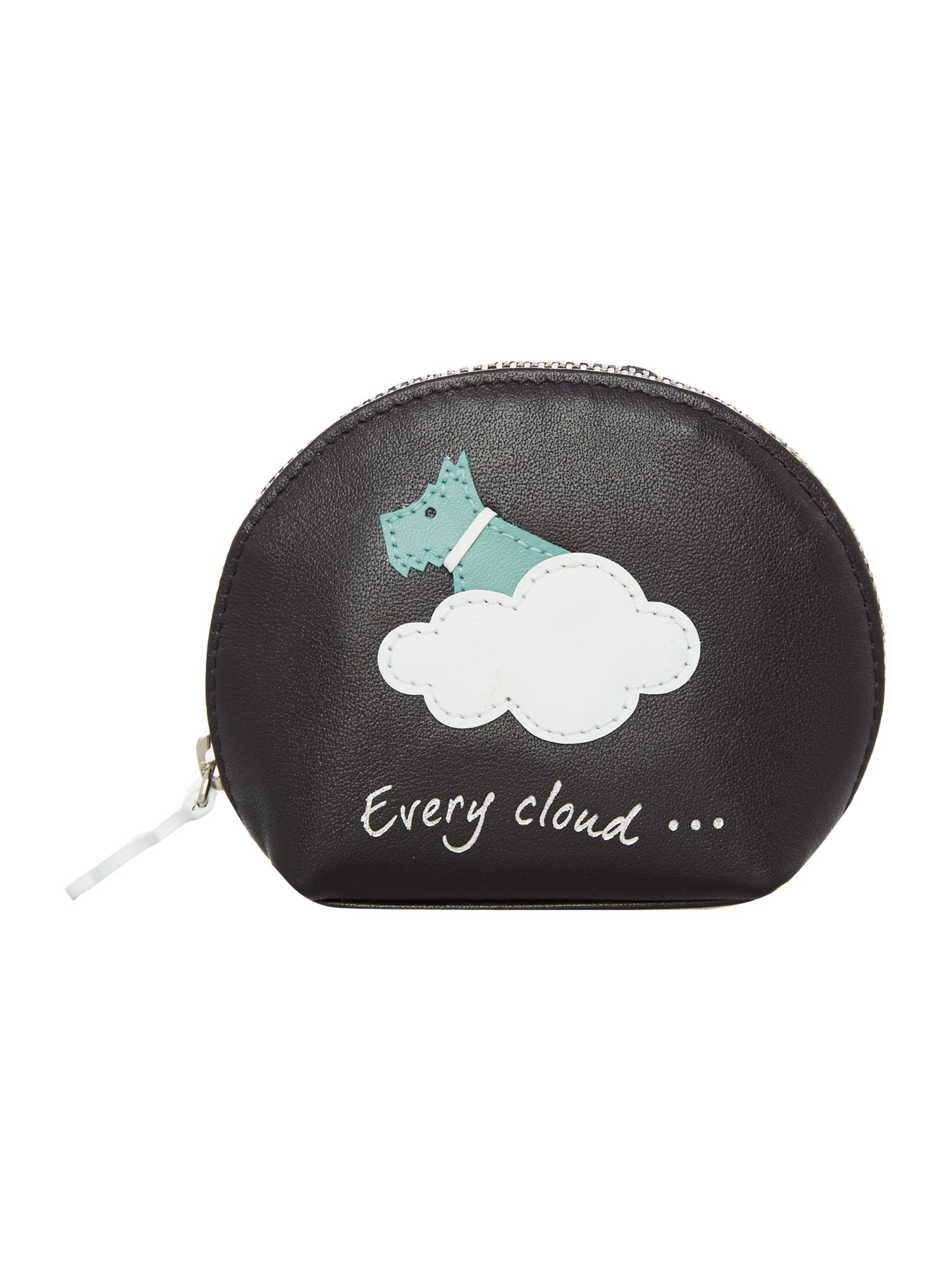 Radley Silver lining sml zip around coin purse Black