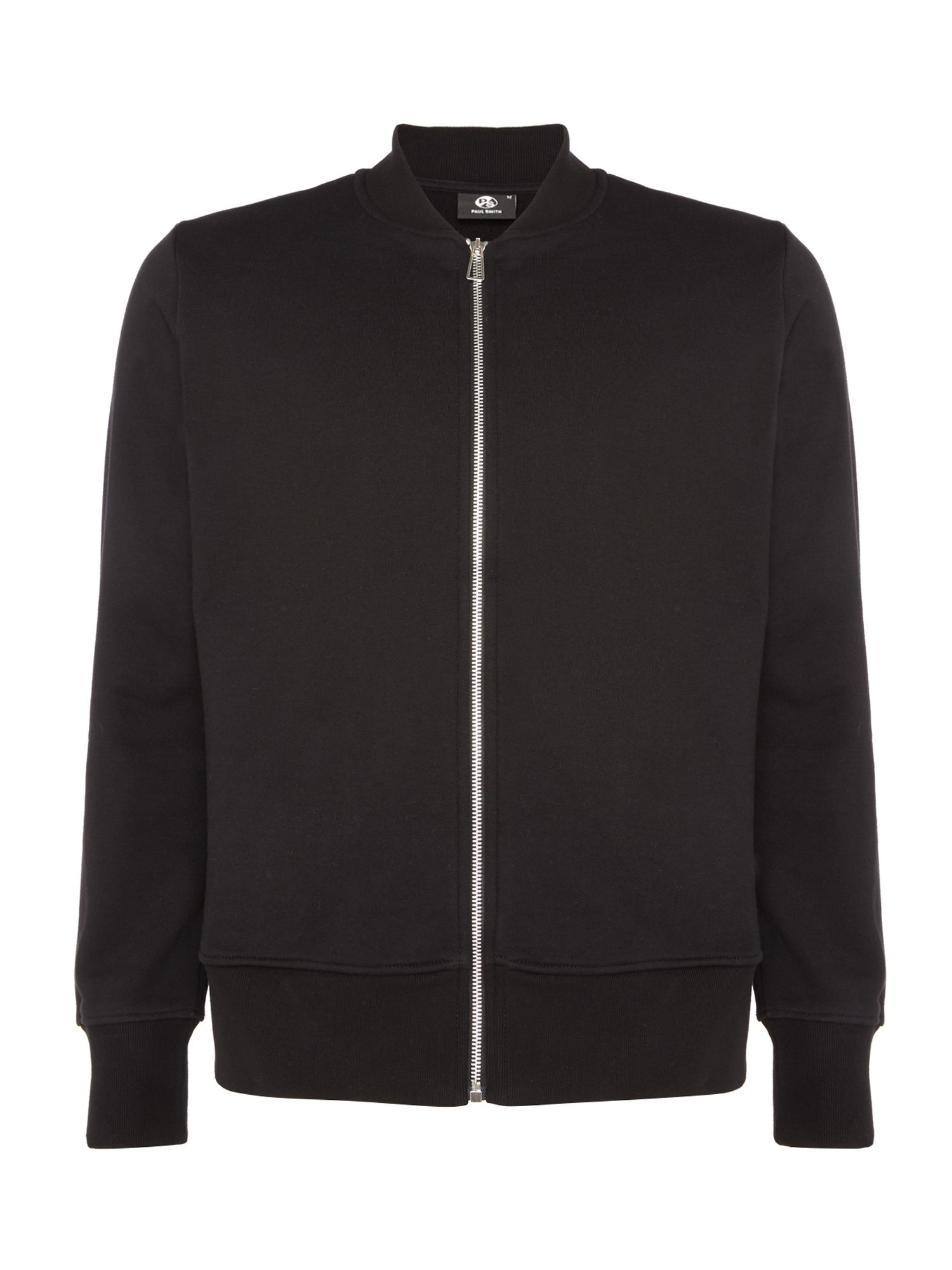 Men's PS By Paul Smith Zip-up sweat bomber jacket, Black
