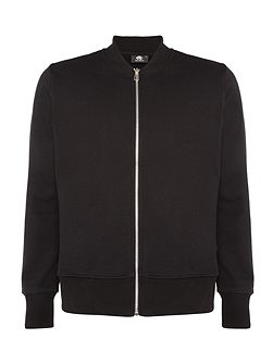 Zip-up sweat bomber jacket