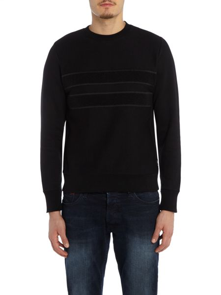 PS By Paul Smith Boucle front stripe sweat top