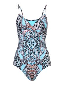 Seafolly Kashmir wrap maillot swimsuit