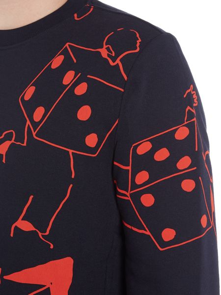 PS By Paul Smith All-over dice men printed sweat
