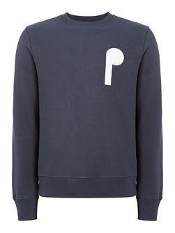 Front and back PS logo printed sweat top