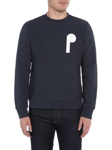 PS By Paul Smith Front and back PS logo printed sweat top