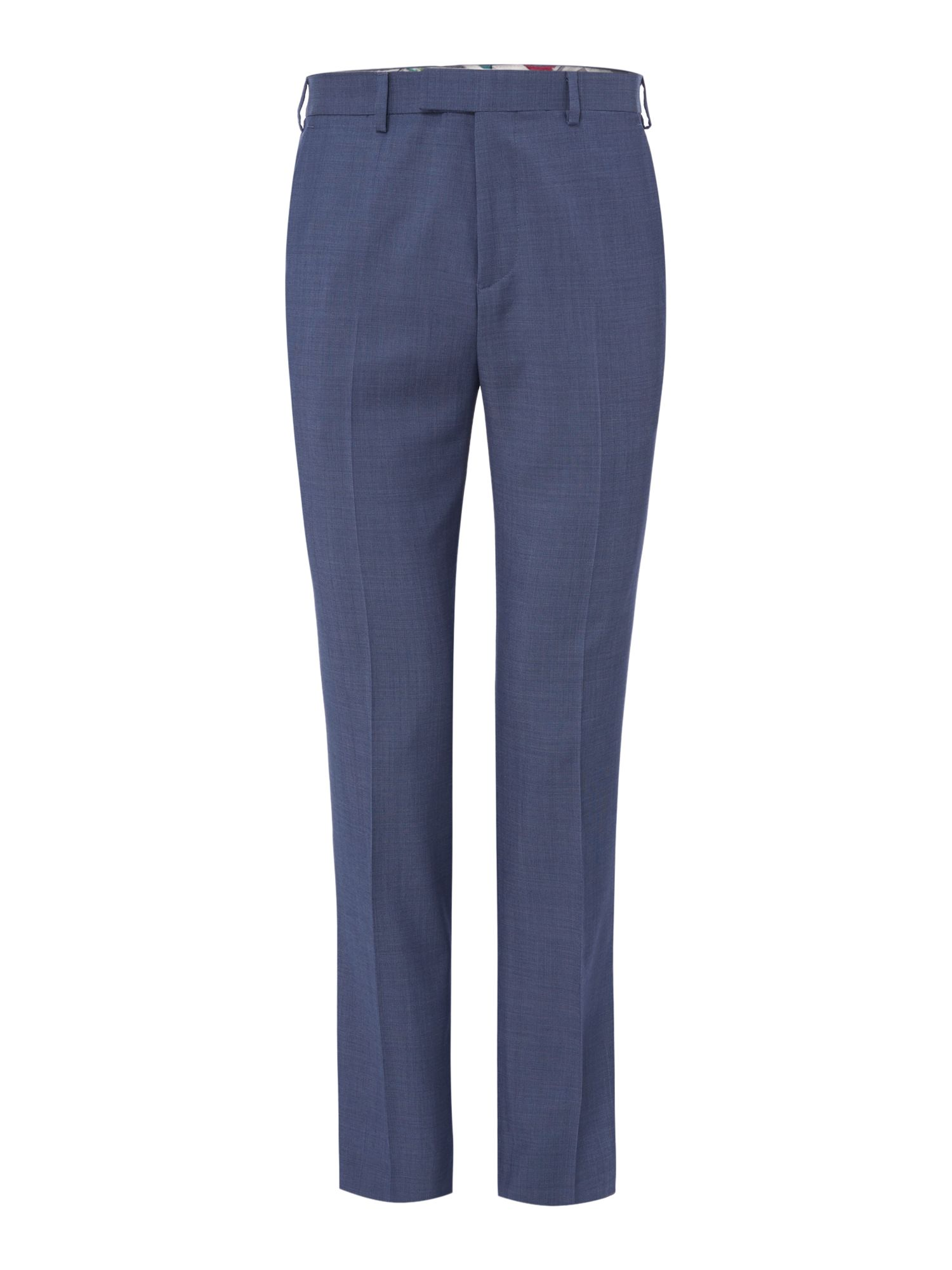 Mens Ted Baker List Textured Suit Trousers Blue