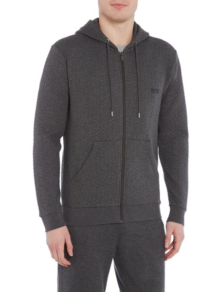 Hugo Boss Contempary Quilted Zip Up Jumper