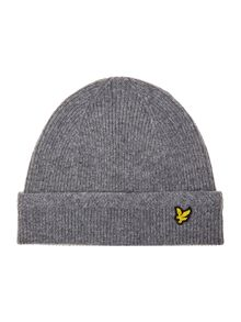 Lyle and Scott Classic racked rib beanie hat