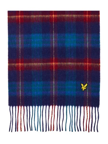 Lyle and Scott Woven tartan scarf