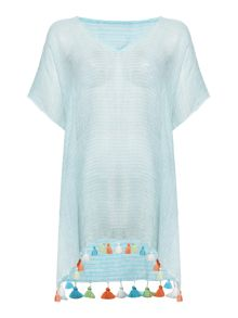 Seafolly Ocean rose fine stripe kaftan