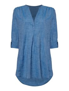 Seafolly Ocean rose boyfriend beach cover up shirt