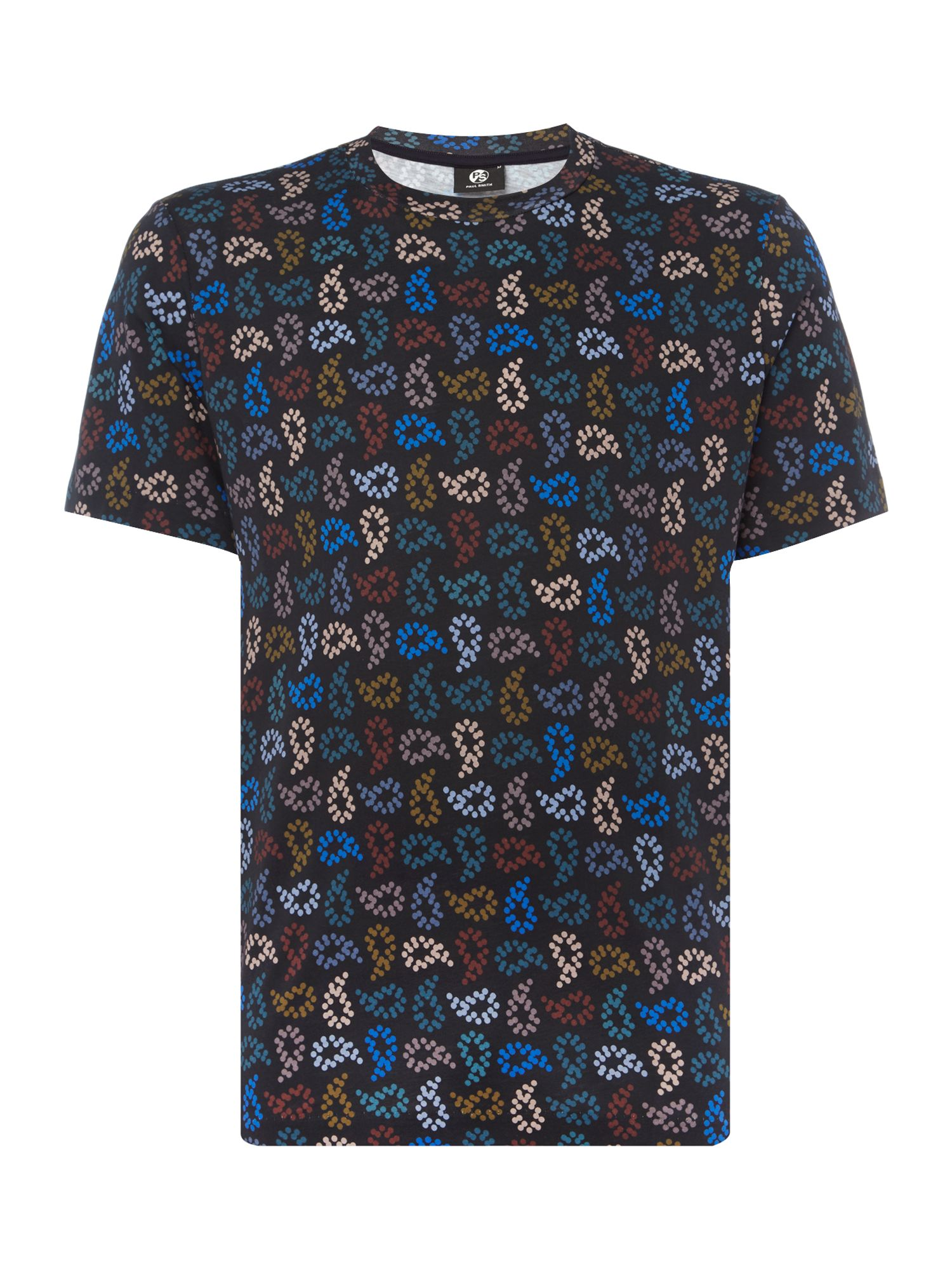 Men's PS By Paul Smith All-over paisley printed t-shirt, Blue