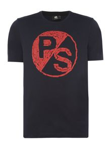 PS By Paul Smith Large PS logo chest print t-shirt