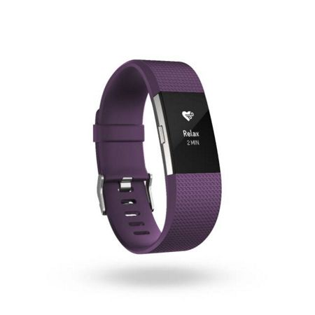 Fitbit Charge 2 Plum & Silver, Large