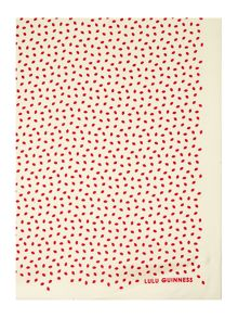 Lulu Guinness Mini lip print silk scarf