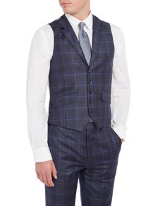 Ted Baker Gave Slim Large Check Suit Waistcoat