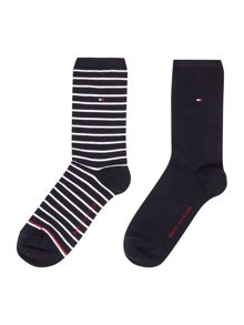 Tommy Hilfiger Small Stripe 2 Pair Pack Ankle Socks