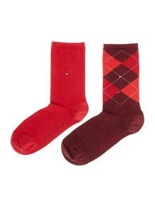 Tommy Hilfiger Check 2 Pair Pack Ankle Socks
