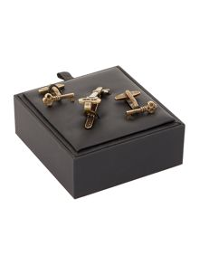 Label Lab Key Cufflink and Tieclip Set