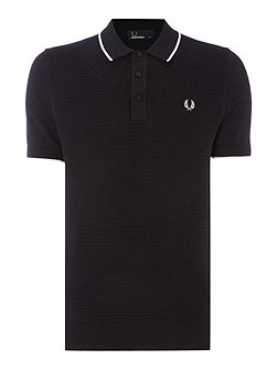 Checkerboard short sleeve polo