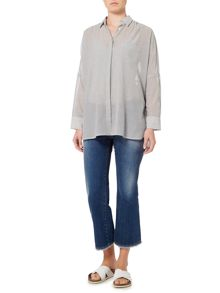 Max Mara LAZIO lightweight striped blouse