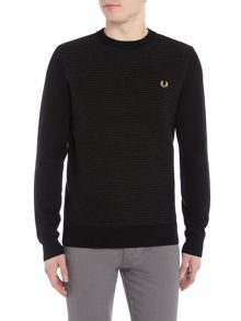 Fred Perry Crew neck textured rib jumper