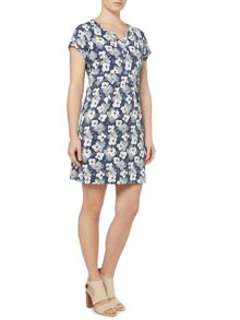 Brakeburn Spring daisy placket dress