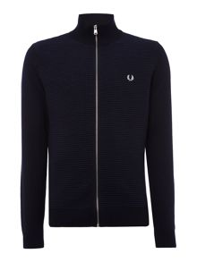 Fred Perry Rib zip thru funnel neck jumper