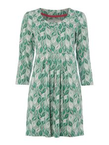 Brakeburn Leaf dress with 3/4 sleeves