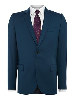 Wool Single Breasted Notch Suit Jacket