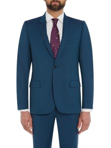 PS By Paul Smith Wool Single Breasted Slim Fit Notch Suit Jacket