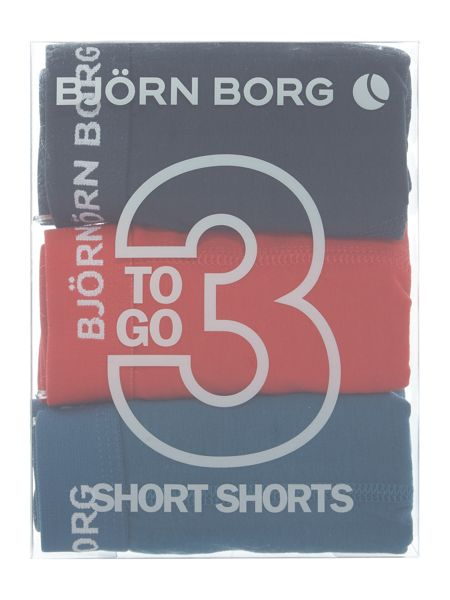 Bjorn Borg 3 Pack of Solid Trunks