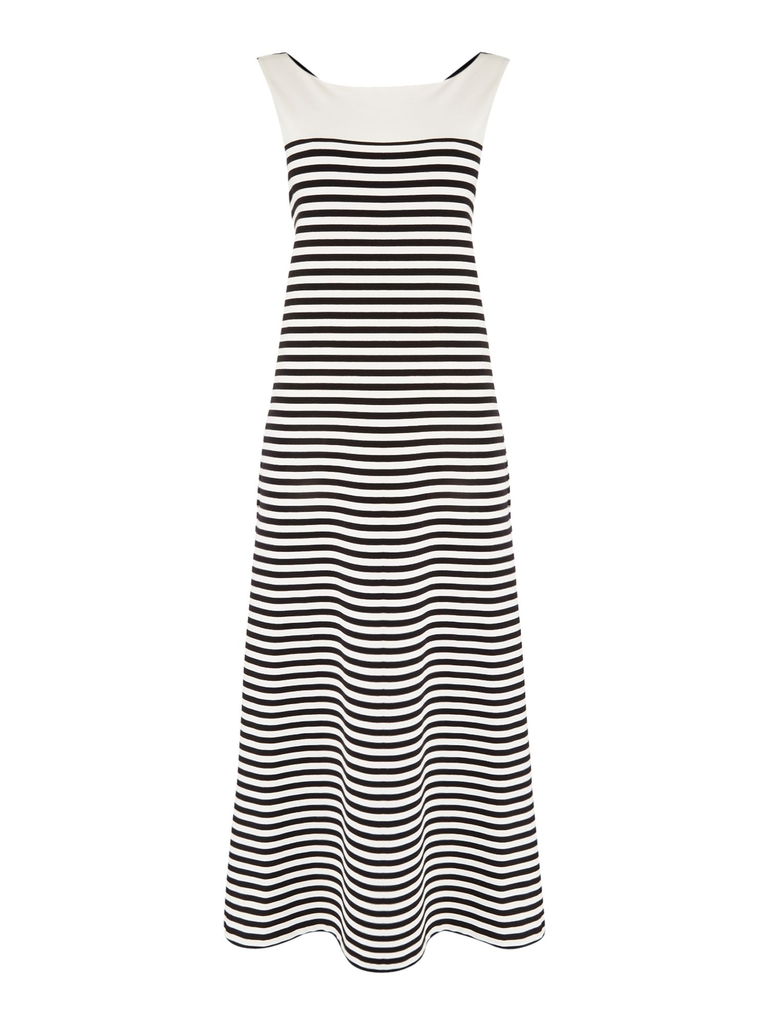 Max Mara Weekend CITRATO striped body contrast top maxi dress, Black
