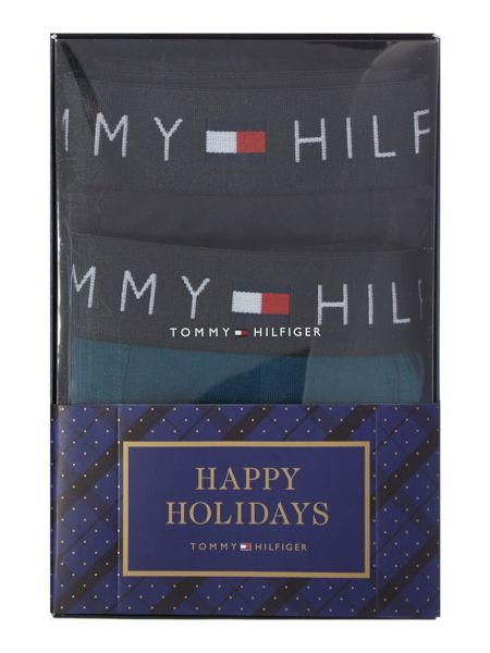 Tommy Hilfiger 3 Pack Icon Checked Trunk