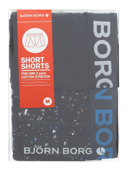 Bjorn Borg 2 Pack of Mineral Print and Plain Trunks
